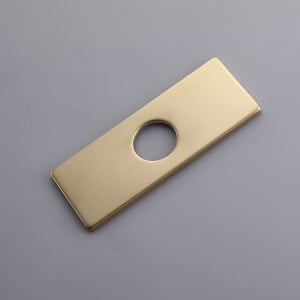 """4"""" Square Escutcheon Plate Bathroom Vanity Sink Faucet Hole Cover Deck Plate Stainless Steel Brushed Gold"""