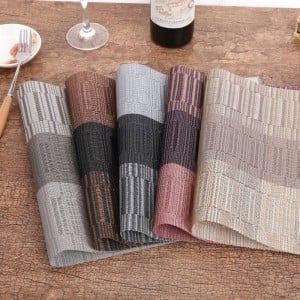 4Pcs/lot Placemat Fashion PVC Dining Table Mat Bowl Pad Coasters Waterproof Table Pad Plate Dish Coaster Kitchen Accessories