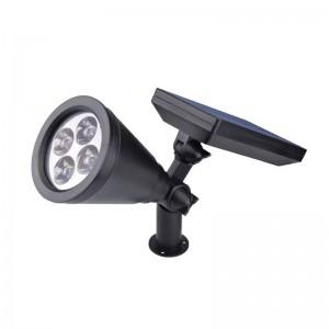 4PCS Solar Powered LED garden lamp Security Spot Light warm white Waterproof Outdoor home Decoratation spotlight