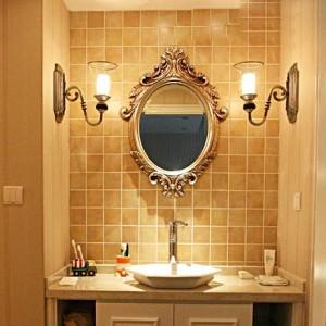 50cmx60cm High Grade European Antique Wall Hanging Bathroom Mirror Washroom Oval American Bathroom Waterproof Basin wall Mirror