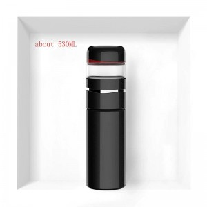 530ML Brief Solid Color 3404 Stainless Steel Vacuum Flasks High-end Business Tea Water Separate Straight Cup Carry Tea Bottles