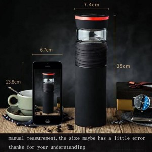 550ml Creative Men Car Vacuum Flasks Stainless Steel Large Capacity Thermos Straight Bottle for Easy Carry / Home Art Drinkware