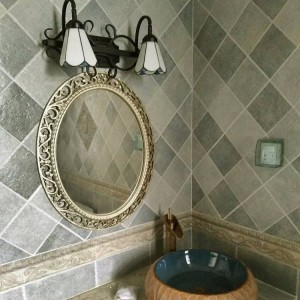 55cmx66cm European Oval Bathroom Mirror Bathroom Toilet Wall Decoration Makeup Mirror Waterproof