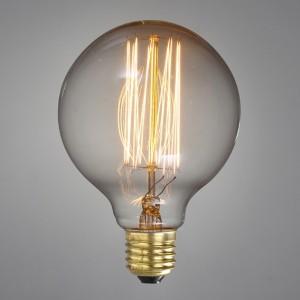 "5"" Extra Large Globe Shaped Edison Light Bulb 40W E26"