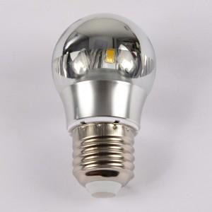 5W E26 Half Chrome LED Light Bulb Warm Light Shadow Light Bulb