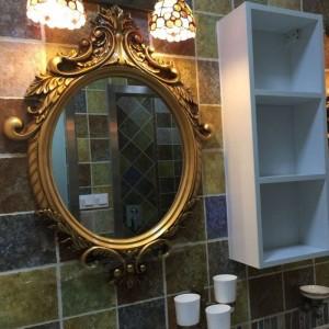61.5*83cm European And American Bathroom Mirror Toilet Washroom Decoration Hanging Mirror