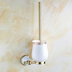 63GD Series Golden Polish Toilet Brush Holders With Diamond Solid Brass Bathroom Accessories hardwares Toilet vanity