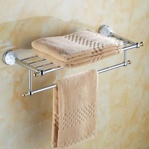 64 CD Series Chrome Polish Brass & Diamond Wall Mounted Bathroom Accessories Sets Towel Rack Hook Paper Holder Soap Dish