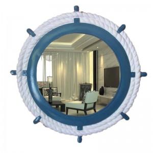 64cmx64cm European Wall Hanging Mirror Mediterranean Style Creative Boat Rudder wall decorative mirror