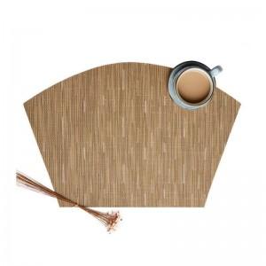 6pcs/set Fan-shaped Design Table PVC Insulation Pad Non Slip Table Mat Kitchen Accessories Decoration Home Pad Coaster Placemats