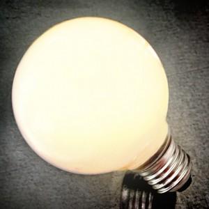 6W LED E26 Milky White Globe Single Light Bulb in Warm White G125