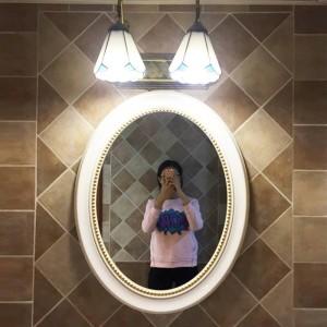 73cmx58cm Nordic European Bathroom Mirror American Bathroom Toilet oval Mediterranean Decorative Wall Mirror