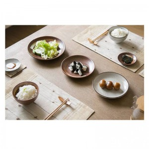 7pcs/set Japan style Promotion ceramic procelain dinner set BLUE TABLEWARE SETS INCLUDE BOWL PLATE 7 pieces lovers dinner set