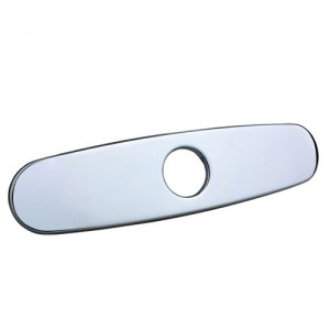 """8"""" Deck Plate Polished Chrome Finished for Single Hole Mounting Solid Brass"""