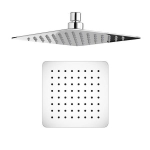 """8"""" Square Mixer Ultra Thin Thermostatic Shower Head Set with Chrome Bathroom Massage Body Jets"""