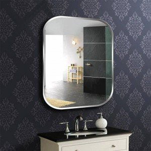 A1 Frameless square bathroom wall mirror toilet dressing table washbasin mirror bedroom wall hanging glass mirror wx8230936