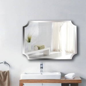 A1 Simple frameless inner corner bathroom mirror wall hanging bathroom toilet makeup dressing paste hanging mirror wx8221858