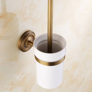 AB1 Series Antique Brass Bathroom Accessories Toilet Brush Holders with cup set Wall Mounted Sanitary wares 7008A