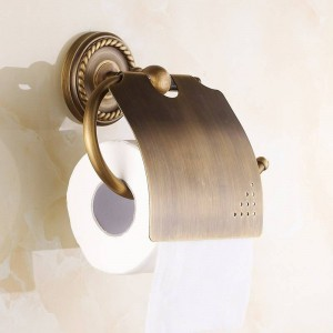 AB1 Series Wall Mounted Paper Holder Antique Brass Finish Bathroom Accessories Hardwares Paper Shelf7002A