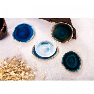 Agate Coaster Teacup Tray Decorative Design Stone Coaster