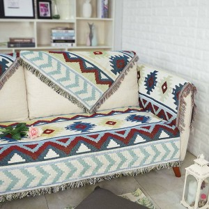 All match Exotic Ripple Throw Blanket Cotton Thread Sofa Cover Geometric Slipcover Cobertor Blankets For Beds Tassel Christmas
