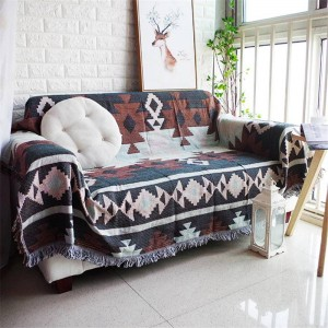 All match Exotic Style Throw Blanket Cotton Thread Sofa Cover Geometric Slipcover Cobertor Soft Blankets For Beds Tassel Edge