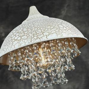 American Country Vintage Iron Crystal pendant light Dining Room Bedroom Study Simple Modern pendant lamp led light
