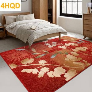 American pastoral living room carpet European style coffee table pad modern minimalist bedroom bedside thickened carpet rug fron