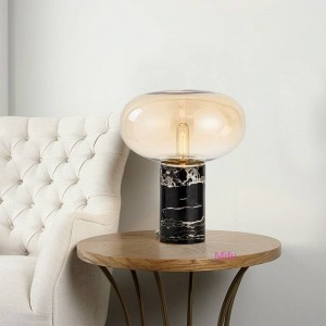 American Simple Table Lamps Bedroom Living Room Table Lamp Marble Table Light Postmodern Creative Model House Decoration