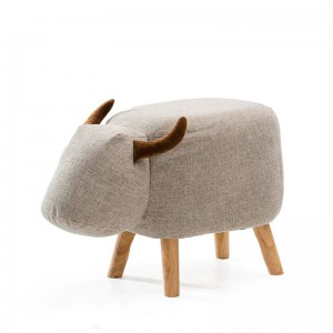 Animal Stool Series Upholstered Ride-on Ottoman Footrest Stool with Vivid Adorable Animal-Like Features Elephant Horse Sheep Cow