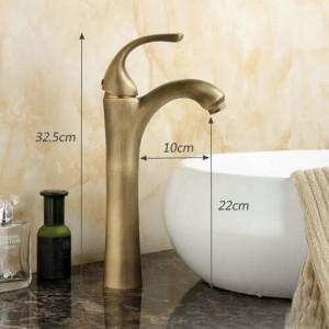 antique bathroom faucets 12.8 Inch Height Basin Faucet Antique Brass Mixer Tap Design Crane 8014
