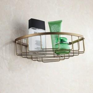 Antique Brass Bathroom corner Shelf Wall Mounted Bathroom Accessories Sanitary wares 7011A2