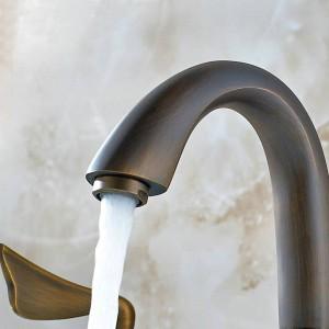 antique bronze faucets bathroom bathtub basin hot/cold handles mixer tap 3pcs faucet set