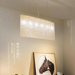Art Deco Restaurant pendant lights Crystal Bead Curtain Light Luxury Post Modern Bar Lamps Crystal Lustre Suspension Luminaire