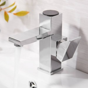 Basin Faucet Bathroom LED Digital Basin Faucet Water Power Basin Mixer Brass Chrome Plated Temperate Display Faucet LAD-16589