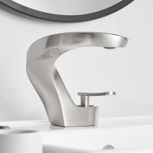 Basin Faucet Bathroom Sink Faucet Black Taps Basin Faucet Mixer Single Handle Hole Deck Wash Hot Cold Mixer Tap Crane 9520L