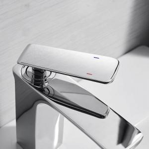 Basin Faucet Bathroom Sink Faucet Chrome Taps Basin Faucet Mixer Single Handle Hole Deck Wash Hot Cold Mixer Tap Crane 9920L