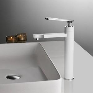 Basin Faucet Hot Cold Chrome/Black Faucet Tap Bathroom Sink Faucet Single Handle Hole Deck Mounted Wash Mixer Tap Crane B579