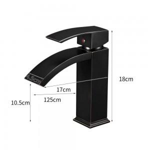 Basin Faucet Black Faucet Taps Bathroom Sink Faucet Single Handle Hole Deck Vintage Wash Hot Cold Mixer Tap Crane 855015