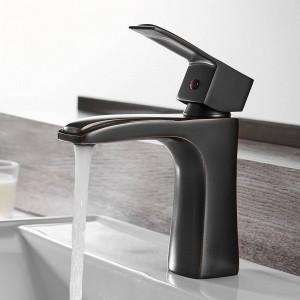 Basin Faucet Black Faucet Torneira Para Banheiro Taps Bathroom Sink Faucet Single Hole Hot Cold Mixer Tap Crane 855021