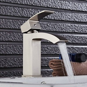Basin Faucets Bathroom Sink Basin Mixer Hot Cold Brass Faucet Mixer Tap Chrome/Black/Nickel Brush 8318S