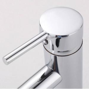 Basin Faucets Brass Chrome Silver Bathroom Sink Faucet Single Handle Hole Deck Mount Toilet Bath Vanity Mixer Water Tap L-1007