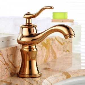 Basin Faucets Brass Chrome Silver Luxury Bathroom Sink Faucet Single Handle Hole Bathbasin Hot Cold Mixer Water Tap YLS5871-111