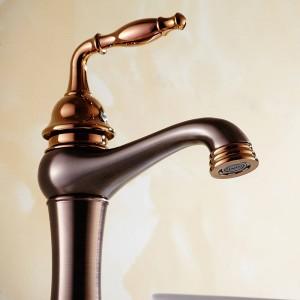 Basin Faucets Brass Oil Rubbed Bronze Bathroom Sink Faucet Single Lever Deck Washbasin Vessel Water Tap Mixer Black Crane 9238