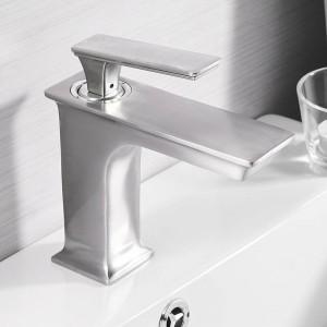 Basin Faucets Fashion Bathroom Mixer Tap Brass Washbasin Faucet Single Handle Single Hole Elegant Crane For Bathroom LAD-9916