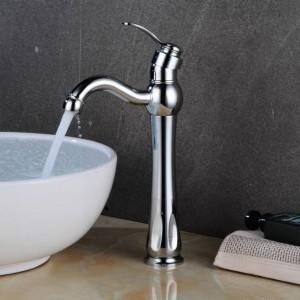 Basin Faucets Hot &Cold Mixer Tap Rose Gold/Black Brass Deck Mount Bathroom Sink Faucet Single Handle 1 Hole Vintage Tap LAD-414