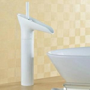 Basin Faucets Waterfall Bathroom Antique Faucet Single Handle Torneiras Para Banheiro Mixer Tap Deck Mounted Water Tap LAD-9207K
