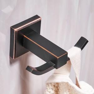 Bath Hardware Sets Black Brushed Bath Cup&Tumbler Holders Europe Toilet Brush Holder Towel Bar Paper Holders Cloth Hook LAD-92500