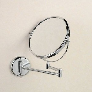 """Bath Mirrors 8"""" Round Wall Mirror 3 X Magnification Dual Face Makeup Cosmetic Mirrors Brass Bathroom Mirror 1308L"""