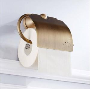 Bathroom accessories hardware bronze toilet full copper European antique roll paper towel rack toilet paper holder 9040K